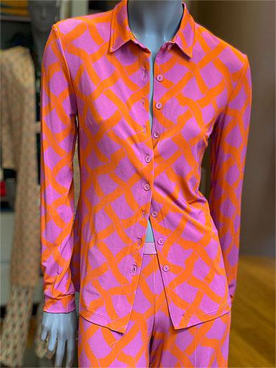 camisa cintas naranjas