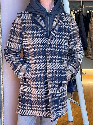 abrigo hombre cuadros